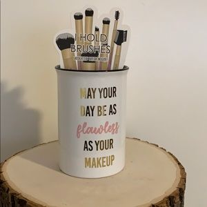 Makeup Brush Glass Holder